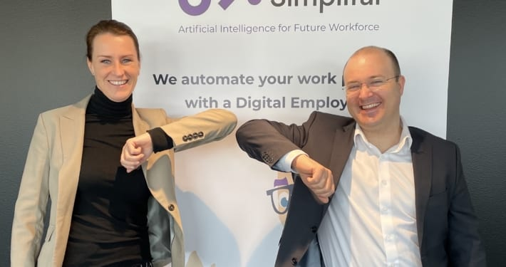 From left: Line Therese Jørgensen, Head of Global Delivery, Daniel Kohn, CCO at Simplifai